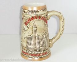 Budweiser Chicago Il Marina City Wrigley Water Tower Beer Stein Vintage 1981 Le