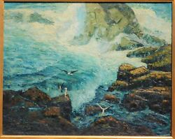 Victor Coules, 1891-1981, Vintage Ca Oil/canvas 24 X 30