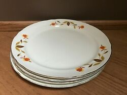 4 Vintage Hall Autumn Leaf 9 Inch Plates