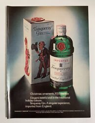 1972 Tanqueray Gin Print Ad Bottle Singular Experience Imported From England