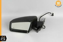 10-13 Mercedes W221 S550 S400 Left Side Rear View Door Mirror W/blind Spot Oem
