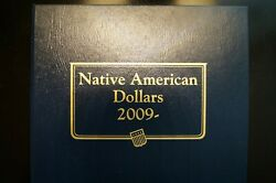 Native American Dollars 2009p-2018-s In Whitman Classic Album 30 Coins