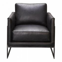 Moeand039s Luxe Leather Club Chair In Black