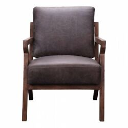 Moeand039s Drexel Leather Arm Chair In Antique Ebony And Brown