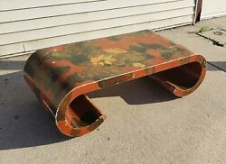 Vintage Hong Kong Chinese Bench Maitland-smith Ltd 18th Century Design Floral Il