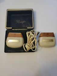 Lot Of 2 - Vintage Remington 60 Deluxe Electric Shaver With 1 Cord And Box