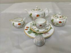 Wedgwood Wild Strawberry Miniature Tea And Coffee Sets Free Shipping From Japan