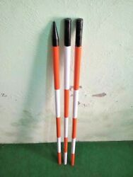 Ranging Rod 3 Meter 3 Fold Solid Shue For Survey, Engineers And College Students