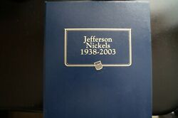 Jefferson Nickels 1938-2003 In Whitman Classic Album 179 Coins Free Shiiping