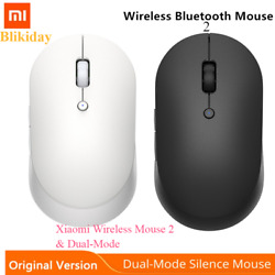 Xiaomi Wireless Mouse 2 Dual-Mode 2.4GHz Laptop Gaming Mouse Bluetooth USB Con $18.98
