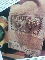 Country Chicken Welcome Towel RIBBAND OOP Magazine Cross Stitch PATTERN W