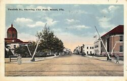 FL - 1917 FLORIDA Courthouse & City Hall on 12th Street (Now Flagler) Miami FLA