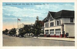 FL - 1920's Florida Masonic Temple & City Hall at St. Petersburg FLA - Pinellas