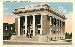 Clearwater City HallFL Tichnor Pinellas County Florida Antique Postcard Vintage
