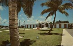 Boca RatonFL City Hall Palm Beach County Florida Scenic Vendors Chrome Postcard