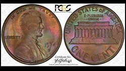 1974 D Lincoln Memorial Cent Pcgs Ms66bn Top Pop 3/0 Coinfacts Plate Coin