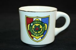 Vtg 70s Bsa Boy Scouts Of America Coffee Mug Schiff Scout Reservation