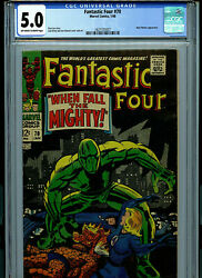 Fantastic Four 70 Cgc 5.0 Vg/fn 1968 Silver Age Marvel Comic Amricons K16