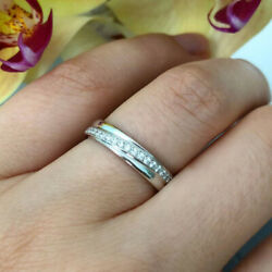Real 950 Platinum Diamond 0.22 Ct Couples Valentine Band Sets All Size Available