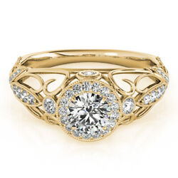 1.00 Ct Real Diamond Solitaire Wedding Rings Solid 14k Yellow Gold Ring Size 6 7