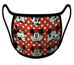 *BRAND NEW* Disney Parks Cute Polka Dot Minnie Mouse Face Mask Adult Large  $7.00