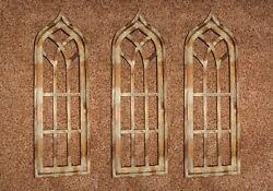 Antique Style Gothic Arch Window Frames Display Ready 35 1/2 Inch - 3 Of 32