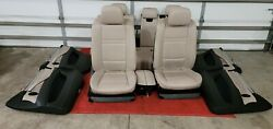 Bmw E70 X5 07-13 Complete Leather Sport Oyster Seat Seats Door Panel Panels Oem