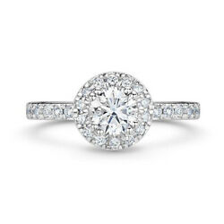1.00ct Round Cut Real Diamond Engagement Wedding Ring 14k Solid White Gold 6 7 8