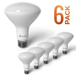 Sunlake 6pk Br30 Dimmable Led Recessed Can Flood Light Bulb 650 Lumens 8w 3000k