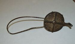 Unusual Antique Cast Iron And Steel Nutmeg Grinder Grater