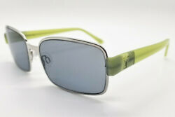New True Vintage Exalt Cycle Shiny Silver And Lime Green Sunglasses Made Italy Nos