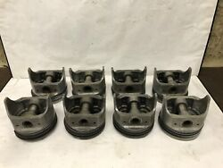409 Chevy Pistons Cast .030 Nos Hastings Rings Full Set W/ Pins 348 Silvolite