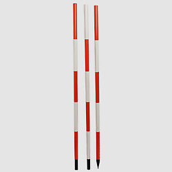 Ranging Rod 3 Meter 3 Fold Solid Shoe For Survey, Engineers And College Department