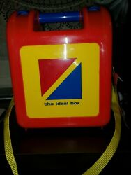 Vtg The Ideal Box Kids Lunch Box with Tags 1998 Old Plastic Stock Tags $20.00