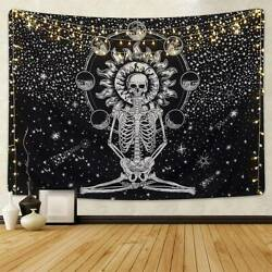 Skeleton Print Indian Tapestry Throw Wall Hanging Home Decor Blanket Bedspread