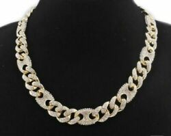 Natural Moissanite 200g Pure 925 Sterling Silver Chain Miami Cuban Curb Link 30