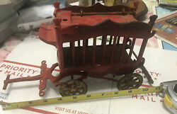 Vintage 1930and039s Kenton Cast Iron Overland Circus Wagon Stamp3316 3324 Made In Usa
