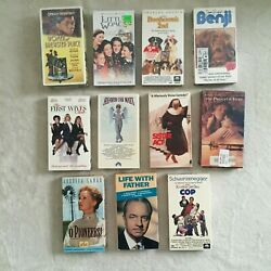 Lot Of 11 Vhs Tapes, Oprah, Kindergarten Cop, First Wives Club, Little Woman