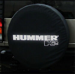 18inch Spare Tire Cover For Hummer H2 Silver Logo Dust Protector Covers 34-35