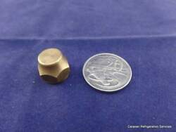Brass Gas Fitting 5-16 Flare Cap Nut For 5-16 Male Flare