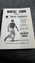 Whitby Town V Bedlington Terriers Northern Lge 1986 Programme