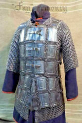 18ga Steel Early Medieval Mail Plate Armor Cuirass Medieval Breastplate Chest D