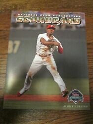 2009 Philadelphia Phillies Rollins Official Club Publication Scorecard Lowest $$