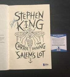 Stephen King Signed Auto Carrie The Shining Salem's Lot Book Beckett Bas Coa 1