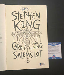 Stephen King Signed Auto Carrie The Shining Salem's Lot Book Beckett Bas Coa 2