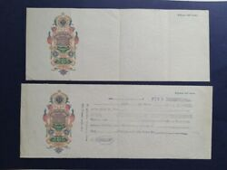 Russia Set Of 2 Bills Of Exchange From The 1900s
