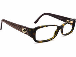 Gucci Glasses GG 3184 Tortoise Rectangular Frame Italy Great Condition Preowned $125.00