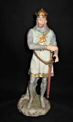Cybis Porcelain Figurine Sir Henry The Knight Detached Sword And Shield Le 59/350
