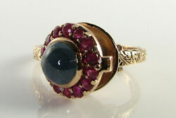 Locket 9k 9ct Rose Gold Sapphire Ruby Art Deco Ins Poison Ring Free Resize