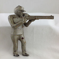 Ca. 1892-1923 Iron Man W/ Rifle Figure Only For Fowler Mechanical Bank